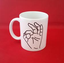 Ok Gesture Hand Symbol meme inspired 10oz mug tea coffee internet reddit tumblr