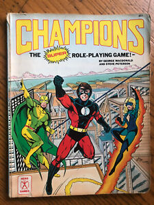 Champions The Super Role-Playing Game Hero Games 1987 RPG Book