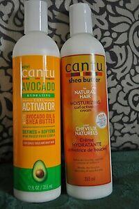 CANTU Duo de crème hydratante 355 ml x 2 pour cheveux frisés et bouclés
