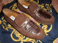 DAVINCI SOFT BROWN PEACOCK LOAFER SHOES  SIZE 8.5 M GENTLY WORN ! FROM ITALY!!
