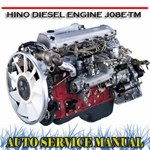 HINO DIESEL ENGINE J08E-TM J08E ENGINE WORKSHOP SERVICE REPAIR MANUAL ~ DVD