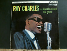 RAY CHARLES  Dedicated To You  LP  STEREO UK 1st  1961   RARE !