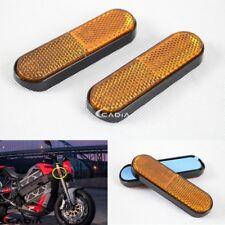 2x Amber Plastic Fork Leg Reflective Sticker Reflector For Motorcycle Dirt Bike