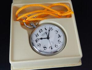 Seiko Quartz Japan Railway 1979 Vintage 50mm Pocket Watch 7550 reloj uhr montre