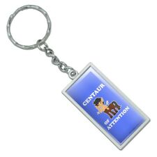 Centaur Center of Attention Funny Humor Rectangle Metal Keychain