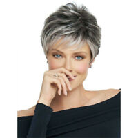 New Short Pixie Cut Wigs Women Synthetic Curly Hair Wig Ombre Layered Wavy Party