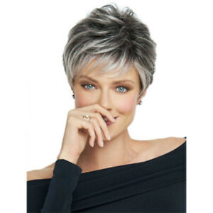Cospaly Women Synthetic Short Curly Full Wig Hair Pixie Wig Root Layered Wigs