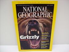NATIONAL GEOGRAPHIC MAGAZINE JULY 2001-GRIZZLIES,CUBA SUNKEN GALLEONS,AKSUM