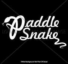 Paddle Snake Whitewater River Accessories Canoe Raft Kayak Die Cut Vinyl Decal