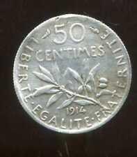 50 centimes SEMEUSE 1914  ( trés trés légérement tordu )