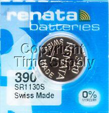 1 pc 390 Renata Watch Batteries SR1130SW FREE SHIP 0% MERCURY