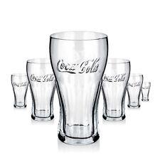 6 x Coca Cola Glas Gläser 0,5l Konturglas Softdrink Gastro Bar Deko NEU