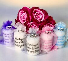 Wedding Favour Candle Personalised, Many Colours, Any Event, Quality Guaranteed