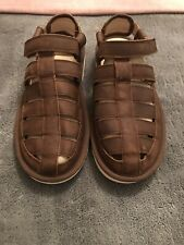 Genuine UGG Mens Leather Dune Fisherman Sandals Uk Size 8 Ex Display