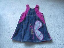 Oilily girls denim cordroy dress size 104-4 EUC