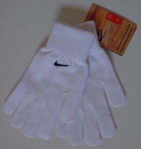Nike Basic Knit Knitted Gloves White/Black Men's Women's XS/S
