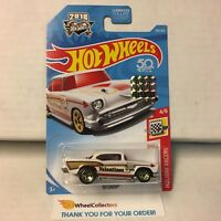 '57 Chevy #100 * White * Limited FACTORY SET 2018 Hot Wheels * NF