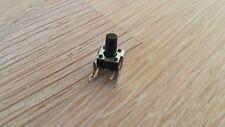 Set 5x micro-mini sonda n.a. de pie aprox. 7x7x7mm Langer, negro pin