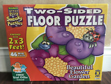 NEW & SEALED * PUZZLE PATCH TWO-SIDED 46 BIG PIECES FLOWER GARDEN FLOOR PUZZLE