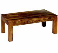 Indian Solid Cube Sheesham wood Medium Coffee Table 110 cm