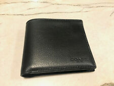 New Authentic Men's Coach Bi-Fold Calf Leather Wallet - Black