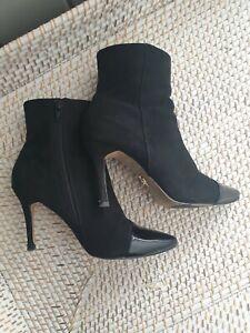 Lipsy Size 4 Black Ankle Boots Womens Stiletto Chic (EU 37)