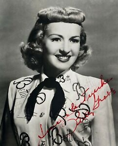 Betty Grable Signed 5x7 Photo Circa 1950 Monogrammed Blouse WWII Pinup Autograph