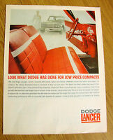 1961 Dodge Lancer Ad Look What Dodge Has done for Low Price Compacts