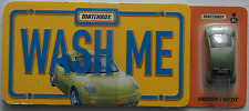 "Matchbox-VW Concept 1/New Beetle Green Metallic ""Wash Me"" New + Book"