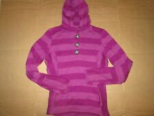 Womens AVALANCHE button up hooded fleece lined sweater jacket M Md Med