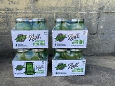 Ball Vintage Style Mason Jars - Green-100th Anniversary, Case of 4 / 4 Packs =16