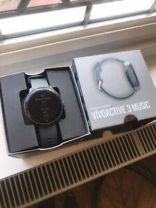 Garmin Vivoactive 3 Music Fitness Smartwatch Running Watch Blue Rose Gold
