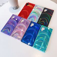 Shockproof Rubber Rainbow Bling PC Case Cover For Samsung Galaxy Note10+/S10/S9