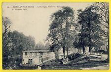 cpa de 1906 NEUILLY SUR SEINE Barge GARAGE Location de CANOTS Alexis MEUNIER