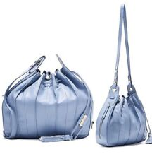 Mimco 💗 New Com-pleat Large Pouche Mist Blue $499 Bag Handbag + Pouch