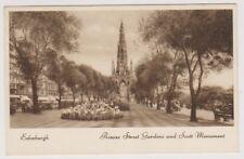 Midlothian postcard - Princes Street Gardens & Scott Monument, Edinburgh