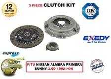 Pour Nissan Almera Primera Sunny 2,0d CD20 1992- > Exedy Qualité OE Kit