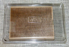 Stampin Up Large Linen Background Craft Rubber Stamp