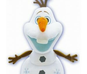 Disney License Frozen character Olaf glitter Plush With Stretch Nose 34cm