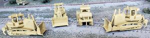 HO 1/87 scale medium bulldozer w/ripper attachment, yellow