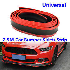 Car Auto Bumper Skirts Lower Lip Front Protector Rubber Anti-Scratch Strip 2.5M