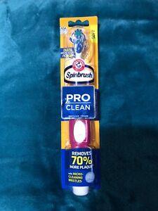 Arm & Hammer Spin brush Pro Series Daily Battery Toothbrush Reddish Purple NEW