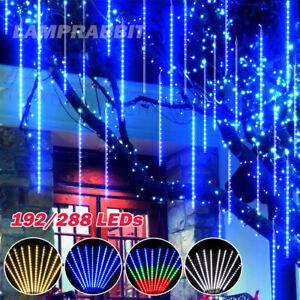 64Tubes LED Meteor Shower Rain Lights Falling String Light Drop Icicle Christmas