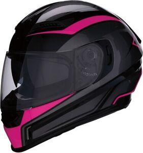 Z1R Womens Motorcycle Helmet W/ Internal Visor Jackal Pink Sizes XS-XL