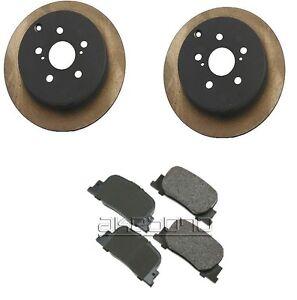 For Scion tC 05-10/10 Brake Kit Rear Japanese Rotors w/ Akebono Pad Set