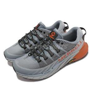 Merrell Agility Peak 4 Grey Black Orange Men Trail Running Outdoors Shoe J066829