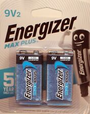 Energizer 9v Max Plus battery 1 pack of 2-piece NEW
