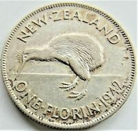 1942 NEW ZEALAND George VI FLORIN, grading VERY FINE.