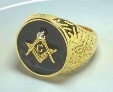 Diamonique Masonic 18k Rings for Men