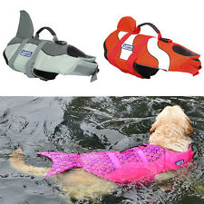 AU Dog Life Jacket Swimming Jacket Float Vest Adjustable Safety Buoyancy Aid Pet